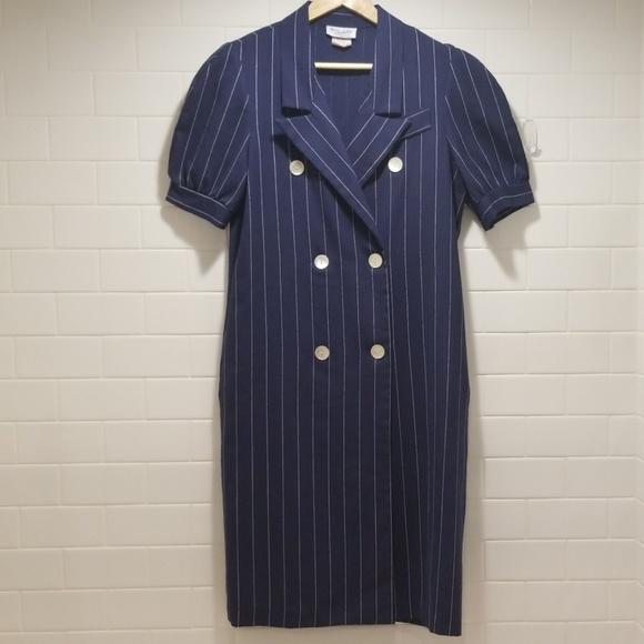 ec811c120 Vintage Dresses | Pinstriped Blazer Dress | Poshmark
